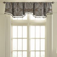Beautyrest® Alexina Rod Pocket Room Darkening Window Valance in Mushroom