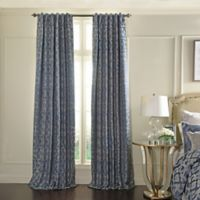 Beautyrest® Normandy 95-Inch Back Tab/Rod Pocket Room Darkening Window Curtain Panel in Lapis