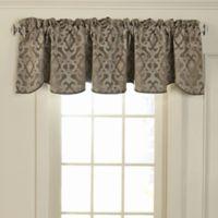 Beautyrest® Normandy Rod Pocket Room Darkening Window Valance in Mushroom