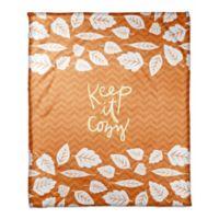 Designs Direct Keep It Cozy Throw Blanket in Orange