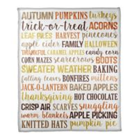 Designs Direct Fall Things Throw Blanket in White