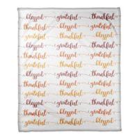 "Designs Direct ""Grateful"" Throw Blanket in White"