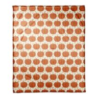 Designs Direct Pumpkins Throw Blanket in Orange