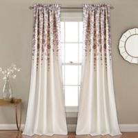 Weeping Flower 84-Inch Room Darkening Window Curtain Panel Pair in Purple