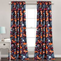 Lush Décor Pixie Fox 84-Inch Room Darkening Window Curtain Panel Pair in Navy