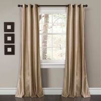 Lush Décor Prima Velvet 84-Inch Grommet Room Darkening Window Curtain Panel Pair in Taupe
