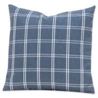 SIscovers® Tartan Denim Square Throw Pillow in Blue/White