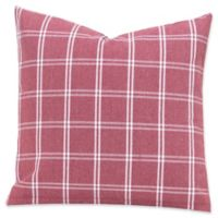 SIscovers® Tartan Brick 26-Inch Square Throw Pillow in Red/White