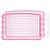 IRIS USA 2-Piece Add-On Kit for 4-Panel Indoor/Outdoor Pet Pen in Pink