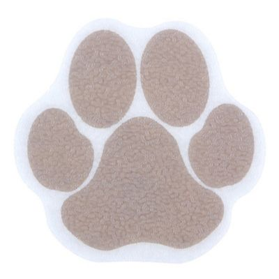 SlipX Solutions Adhesive Paw Print Bath Treads In Tan (Set Of 6)