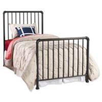 Hillsdale Furniture Brandi Twin Metal Bed in Navy