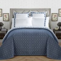 Chic Home Birch Garden Reversible Full/Queen Quilt Set in Navy