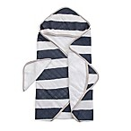 Little Unicorn™ Cotton Hooded Towel and Washcloth Set in Navy Stripe