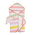 Little Unicorn™ Cotton Hooded Towel and Washcloth Set in Cabana Stripe