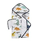 Little Unicorn™ Cotton Hooded Towel and Washcloth Set in Dino Friends