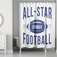 "Designs Direct ""All-Star Football"" Shower Curtain"
