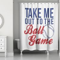 """Designs Direct """"Take Me Out to the Ball Game"""" Shower Curtain"""