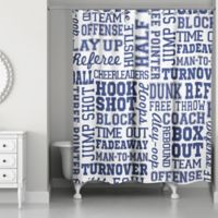 Designs Direct Basketball Words Shower Curtain