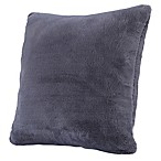 Berkshire Blanket® Grace Faux Fur Square Throw Pillow in Ash