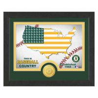 """MLB Oakland Athletics """"Country"""" Bronze Coin Photo Mint"""