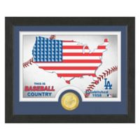 """MLB Los Angeles Dodgers """"Country"""" Bronze Coin Photo Mint"""