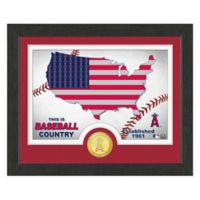 """MLB Los Angeles Angels """"Country"""" Bronze Coin Photo Mint"""