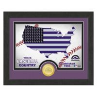 """MLB Colorado Rockies """"Country"""" Bronze Coin Photo Mint"""