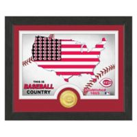 "MLB Cincinnati Reds ""Country"" Bronze Coin Photo Mint"