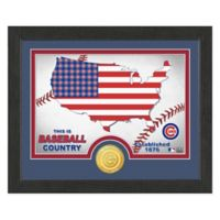 """MLB Chicago Cubs """"Country"""" Bronze Coin Photo Mint"""