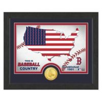 """MLB Boston Red Sox """"Country"""" Bronze Coin Photo Mint"""