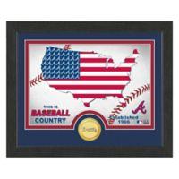 "MLB Atlanta Braves ""Country"" Bronze Coin Photo Mint"
