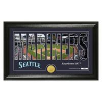 "MLB Seattle Mariners ""Silhouette"" Panoramic Stadium Bronze Coin Photo Mint"