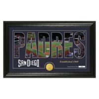 "MLB San Diego Padres ""Silhouette"" Panoramic Stadium Bronze Coin Photo Mint"