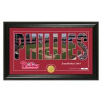 "MLB Philadelphia Phillies ""Silhouette"" Panoramic Stadium Bronze Coin Photo Mint"