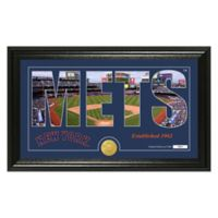 "MLB New York Mets ""Silhouette"" Panoramic Stadium Bronze Coin Photo Mint"