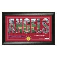 """MLB Los Angeles Angels """"Silhouette"""" Panoramic Stadium Bronze Coin Photo Mint"""