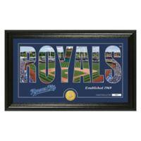 """MLB Kansas City Royals """"Silhouette"""" Panoramic Stadium Bronze Coin Photo Mint"""