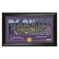 "MLB Colorado Rockies ""Silhouette"" Panoramic Stadium Bronze Coin Photo Mint"