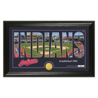 "MLB Cleveland Indians ""Silhouette"" Panoramic Stadium Bronze Coin Photo Mint"