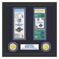 MLB Toronto Blue Jays World Series Bronze Coin & Ticket Collection Photo Mint