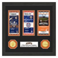 MLB San Francisco Giants World Series Bronze Coin & Ticket Collection Photo Mint