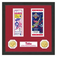 MLB Philadelphia Phillies World Series Bronze Coin & Ticket Collection Photo Mint