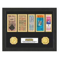 MLB Pittsburgh Pirates World Series Bronze Coin & Ticket Collection Photo Mint