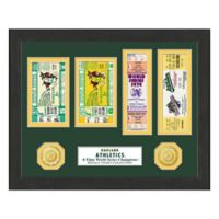 MLB Oakland Athletics World Series Bronze Coin & Ticket Collection Photo Mint