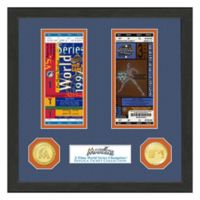 MLB Florida Marlins World Series Bronze Coin & Ticket Collection Photo Mint