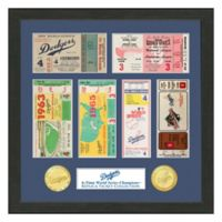 MLB Los Angeles Dodgers World Series Bronze Coin & Ticket Collection Photo Mint
