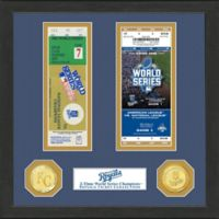MLB Kansas City Royals World Series Bronze Coin & Ticket Collection Photo Mint