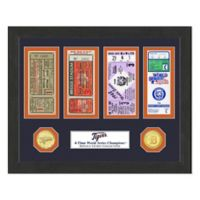 MLB Detroit Tigers World Series Bronze Coin & Ticket Collection Photo Mint