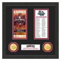 MLB Arizona Diamondbacks World Series Bronze Coin & Ticket Collection Photo Mint