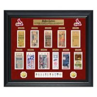 MLB St. Louis Cardinals World Series Deluxe Gold Coin & Ticket Collection Photo Mint